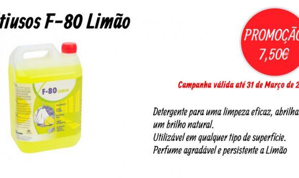PROMOÇÃO Detergente Multiusos F-80 Limão (10L) - EQUIPROFI