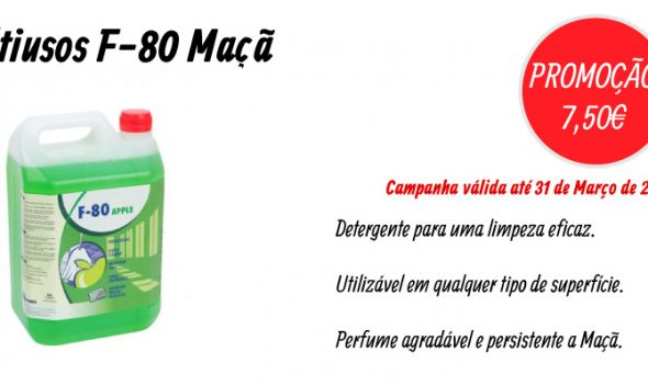 PROMOÇÃO Detergente Multiusos F-80 Maçã(10L) - EQUIPROFI