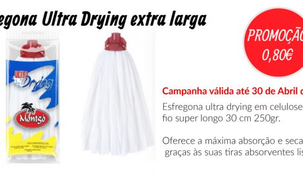 PROMOÇÃO Esfregona Ultra Drying extra larga - EQUIPROFI