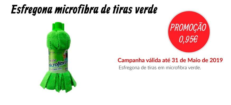 PROMOÇÃO Esfregona microfibra de tiras verde - EQUIPROFI