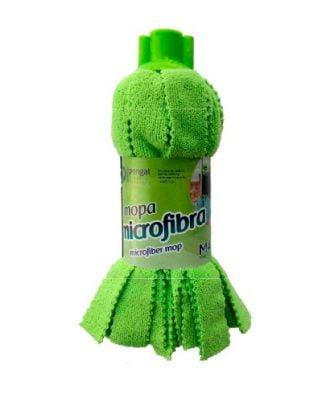 Esfregona microfibra de tiras verde - EQUIPROFI